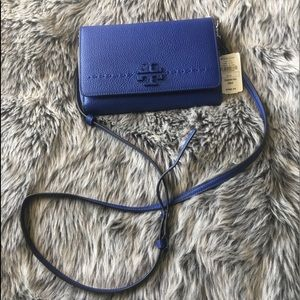 TORY BURCH ROYAL BLUE SHOULDER BAG- NEW WITH TAGS